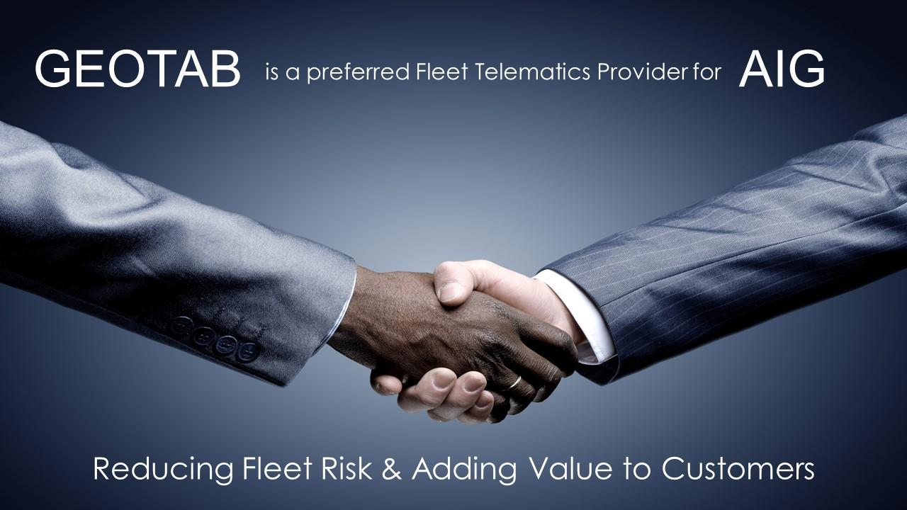GEOTAB AIG Risk Reduction Partnership